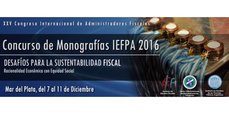 Ganadores del Concurso de Monografías IEFPA 2016