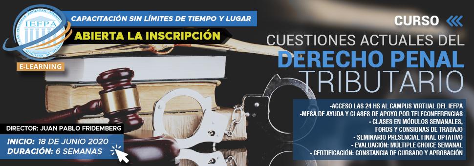 CUESTIONES ACTUALES DE DERECHO PENAL TRIBUTARIO 2020